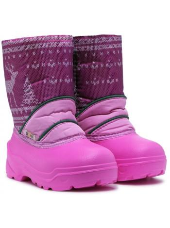 Сноубутсы Дюна 576 разноцветный/розовый (27-33)