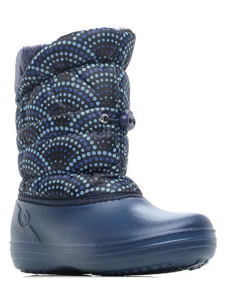Сноубутсы Дюна 544 синий/горошины (33-40)