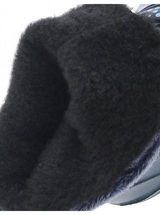 Сноубутсы Дюна 544 синий/горошины (33-36)