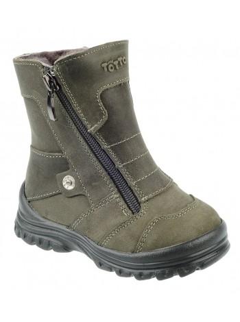 Ботинки зимние ТОТТА 243-МП зеленый (21-25)